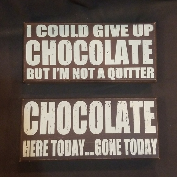 Other - 2 Chocolate theme decorative wood signs